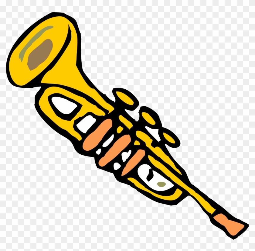 Trumpet Clip Art - Trumpet Transparent Background Clipart #26112