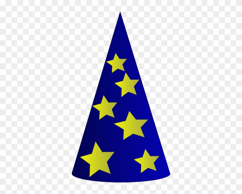 Free Vector Clothing Wizard's Hat Clip Art - Wizard Hat Clipart #26142