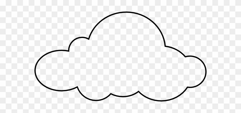 graphic regarding Printable Cloud identified as Outstanding Cloud Coloring Sheet Clip Artwork At Clker Com - Cloud