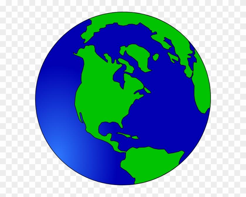 Globe Clip Art At Clkercom Vector Online - World Silhouette #26193