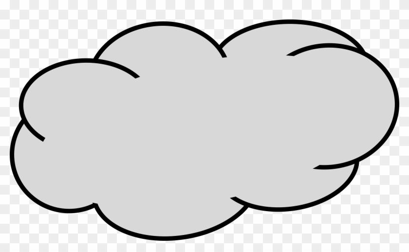 Big Cloud Clipart - Grey Cloud #26205