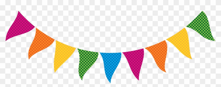 Rainbow Theme For Graduation Rainbow Bunting Clip Art - Banner Clipart #26199
