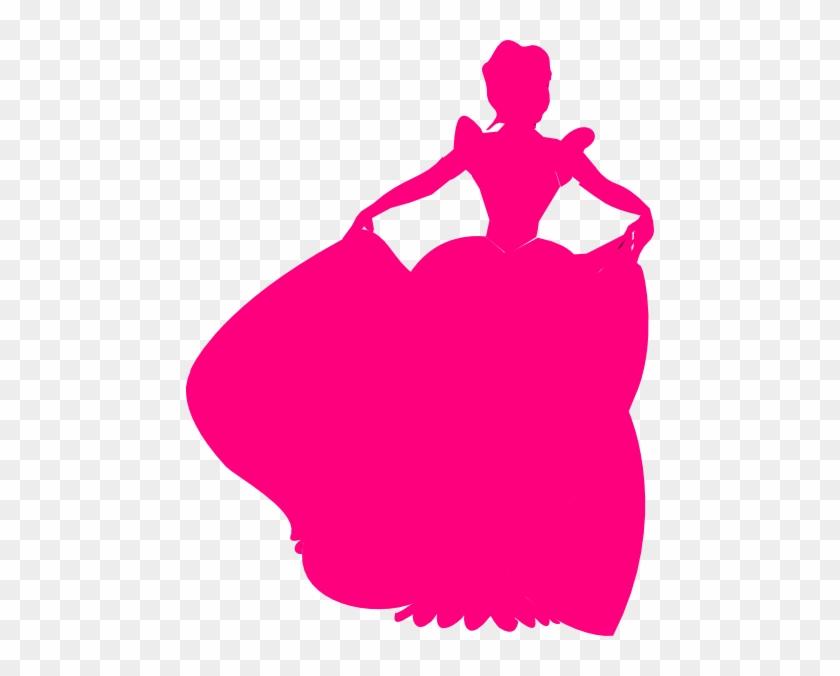 Pink Princess Silhouette Clip Art - Pink Princess Silhouette #26204