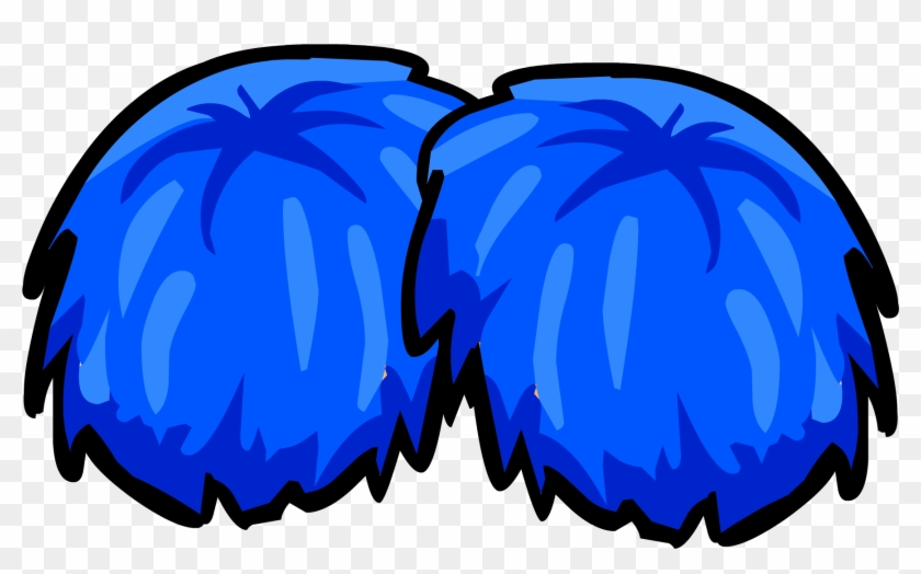Yellow Pom Pom Clip Art - Cheerleader Pom Poms Png #26263