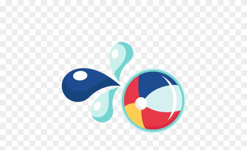 Large Beach Ball Clipart - Beach Ball Splash Clipart #26297