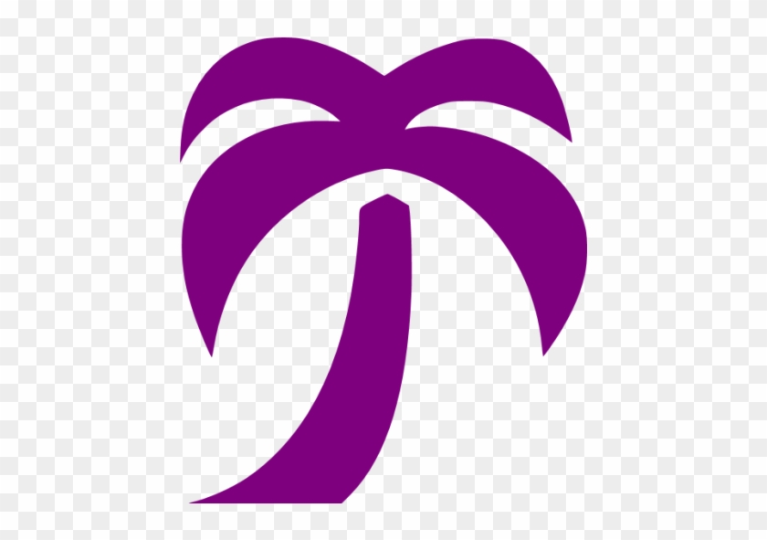 Purple Palm Tree Icon - Palm Tree Png Pink #26303