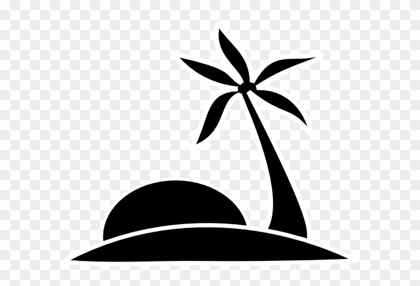 Palm Tree Clipart Black And White - Palm Tree Clipart Black And White #26308