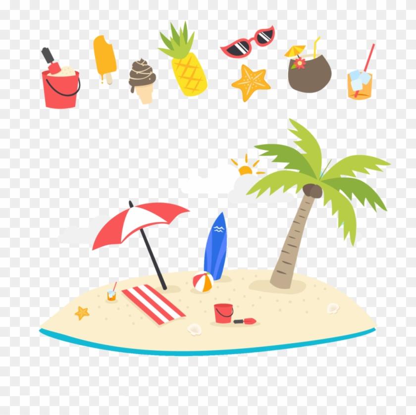 Summer Beach Tree Png Image - Férias Coletivas #26311