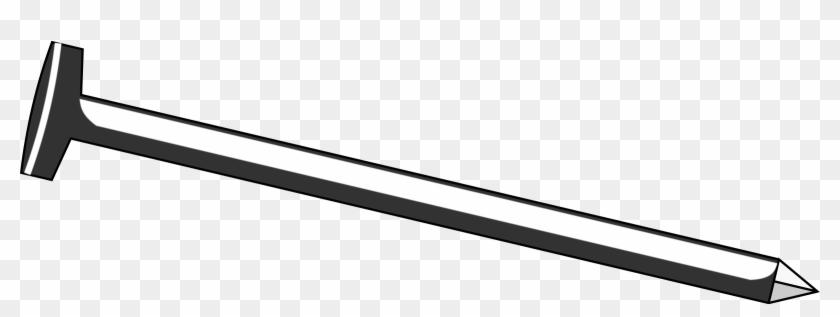 Nail Clipart Black And White - Iron Nail Clipart Black And White #26327