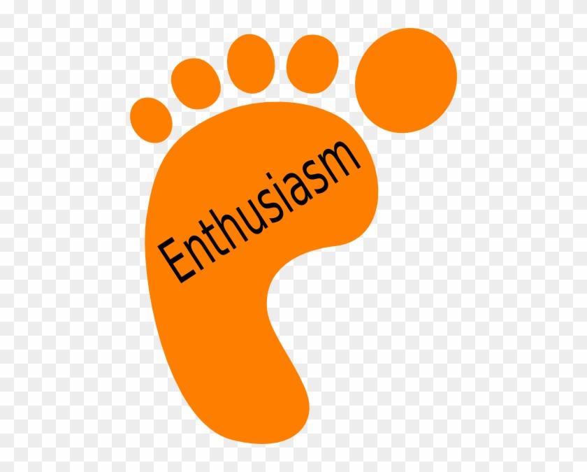 Oragne Footprint Enthusiasm Clip Art At Clker - Assurance Clipart #26356