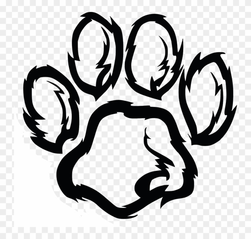 Paw Footprint Wildcat Cat Wildlife - Jaguar Logos Clip Art #26361