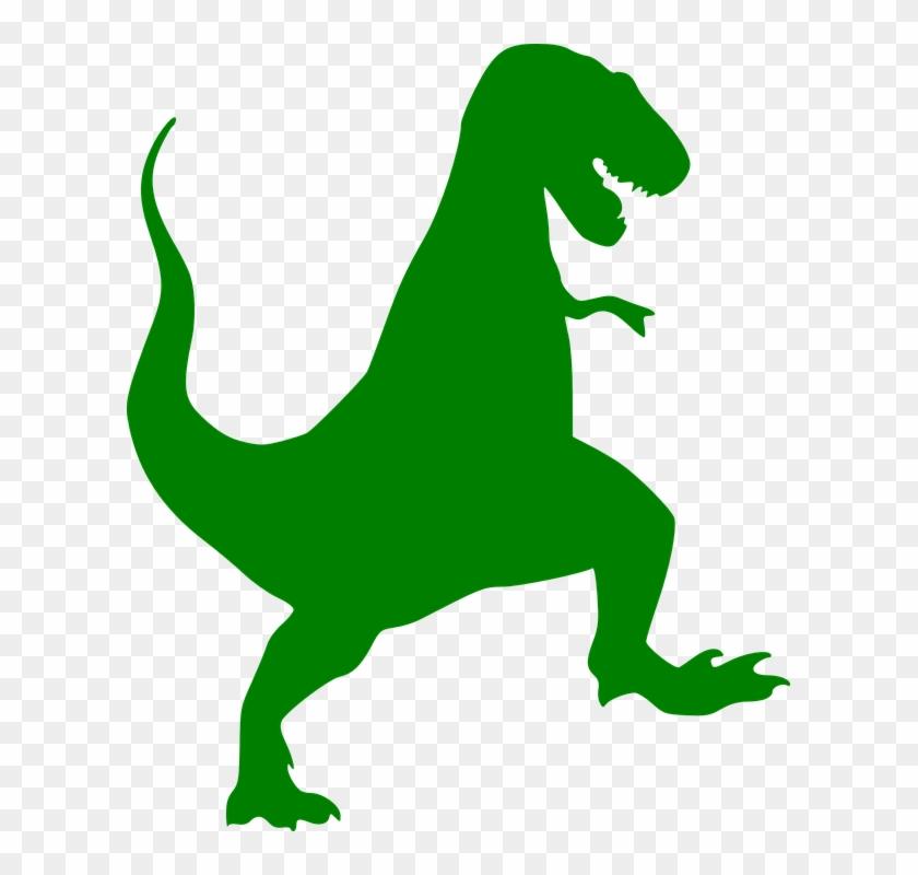 Dinosaur - Footprints - Clipart - T Rex Silhouette #26379