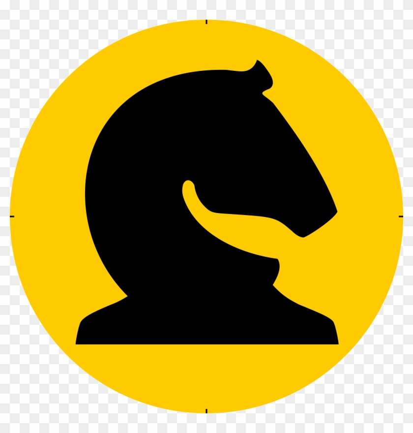 Piece Symbol Black Knight Caballo Negro - Knight Chess #26403