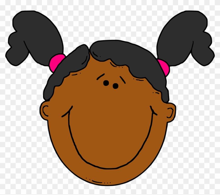 Sarcastic Smiley Face Girl Clipart Elwvw1 Clipart - Girl Face Clip Art #26465