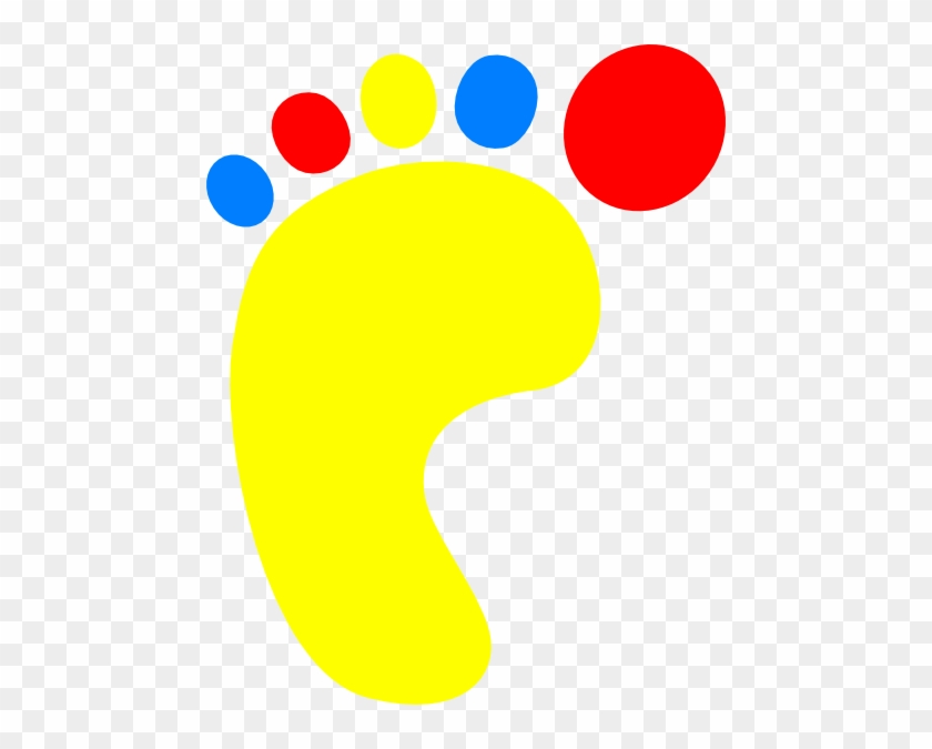 Colorful Footprint Clipart #26468
