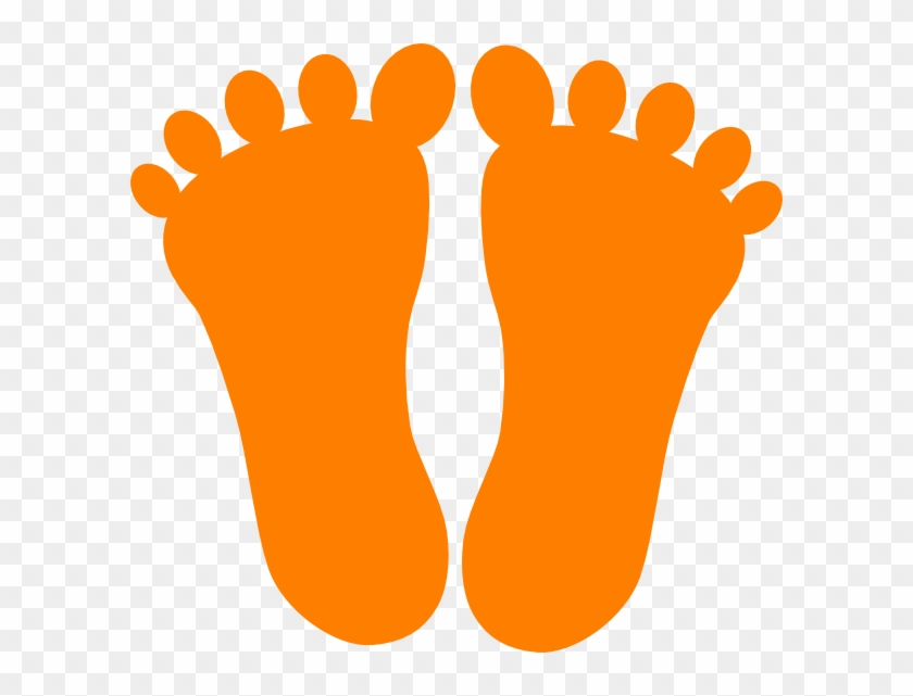 Footprint Clipart Orange Footprints Clip Art At Clker - Orange Foot Prints #26491