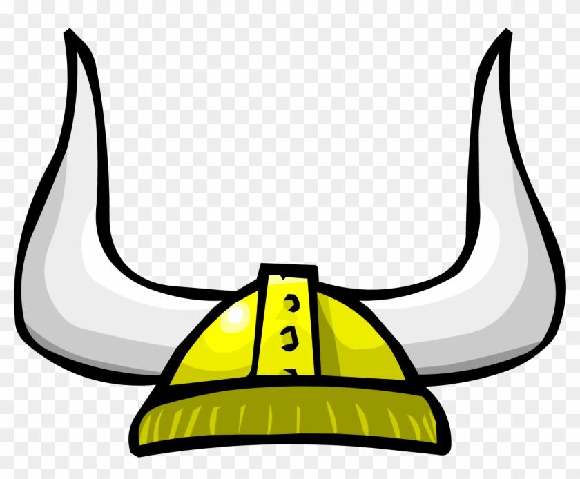 Cartoon Viking Helmet Clipart - Club Penguin Gold Viking Helmet #26497
