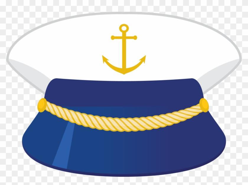 Clip Art - Nautical Captain Hat Clipart #26514