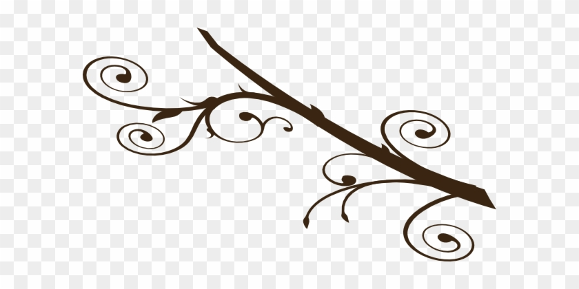 Green - Horizontal Branch Clip Art #26537