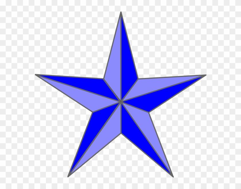 Blue Nautical Star Clip Art - Green And Black Nautical Star #26545