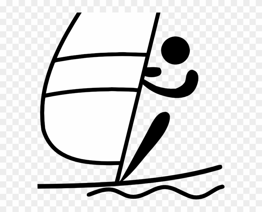 Free Vector Olympic Sports Sailing Pictogram Clip Art - Sailing Pictogram #26558