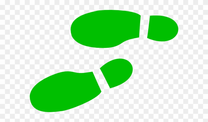 Footwear Print In - Green Shoe Clip Art #26566