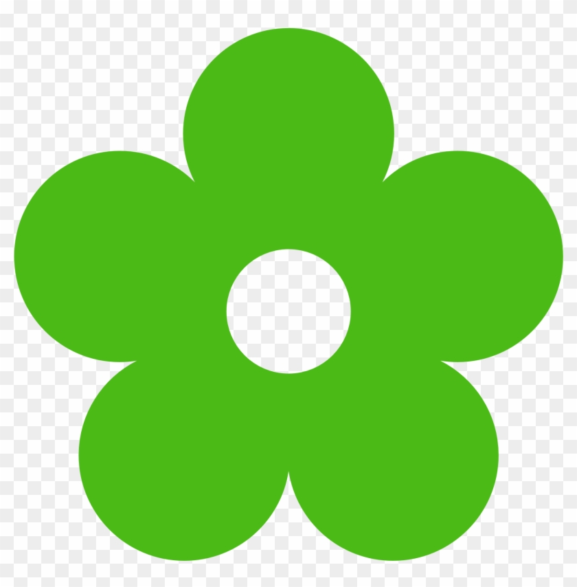 Flowers Clipart Wosqgv Clipart - Green Flower Clipart #26591
