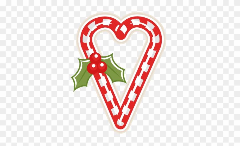 Candy Cane Heart Clipart - Clip Art #26587