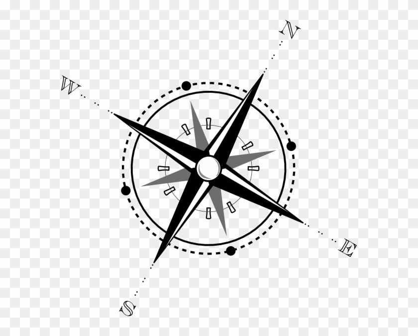 Compass Clip Art Black And White #26638