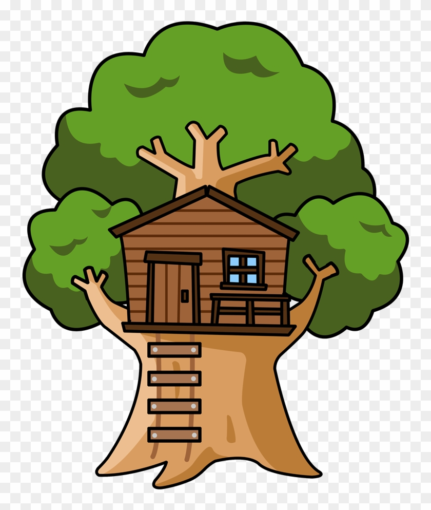 Tree Home Cliparts Free Download Clip Art On House - Cute Tree House Clipart #26640