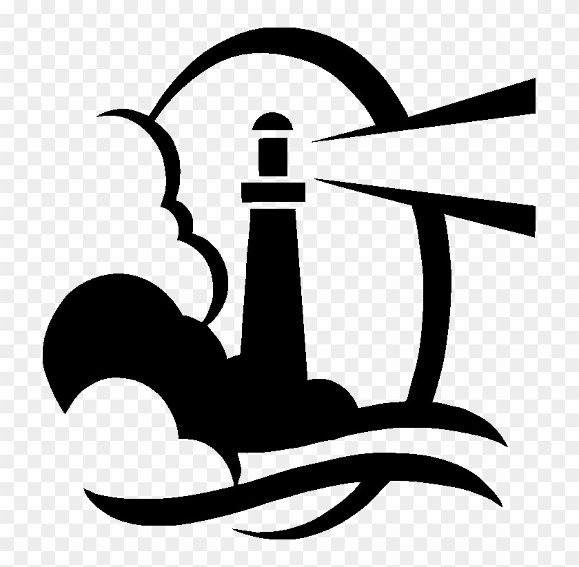 Lighthouse Clipart Black And White #26649