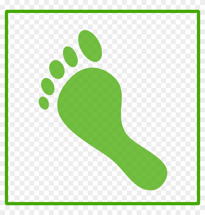 Related Green Footprint Clipart - Carbon Footprint Icon #26654