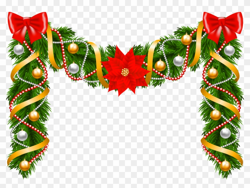 Christmas Deco Garland Png Clipart Image - Girlande Weihnachten Clipart #26679