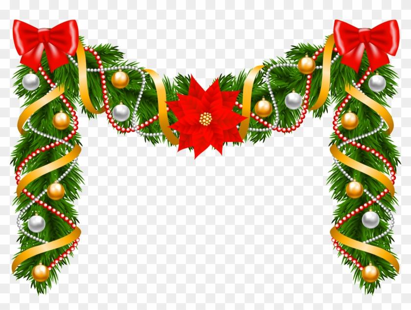 Weihnachten Clipart Bilder.Christmas Deco Garland Png Clipart Image Girlande Weihnachten