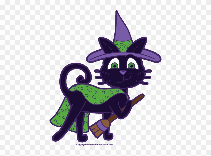 Click To Save Image - Witch Cat Clip Art #26660