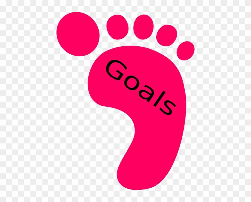 Right Footprint Goals Clip Art - Goals Clipart #26671