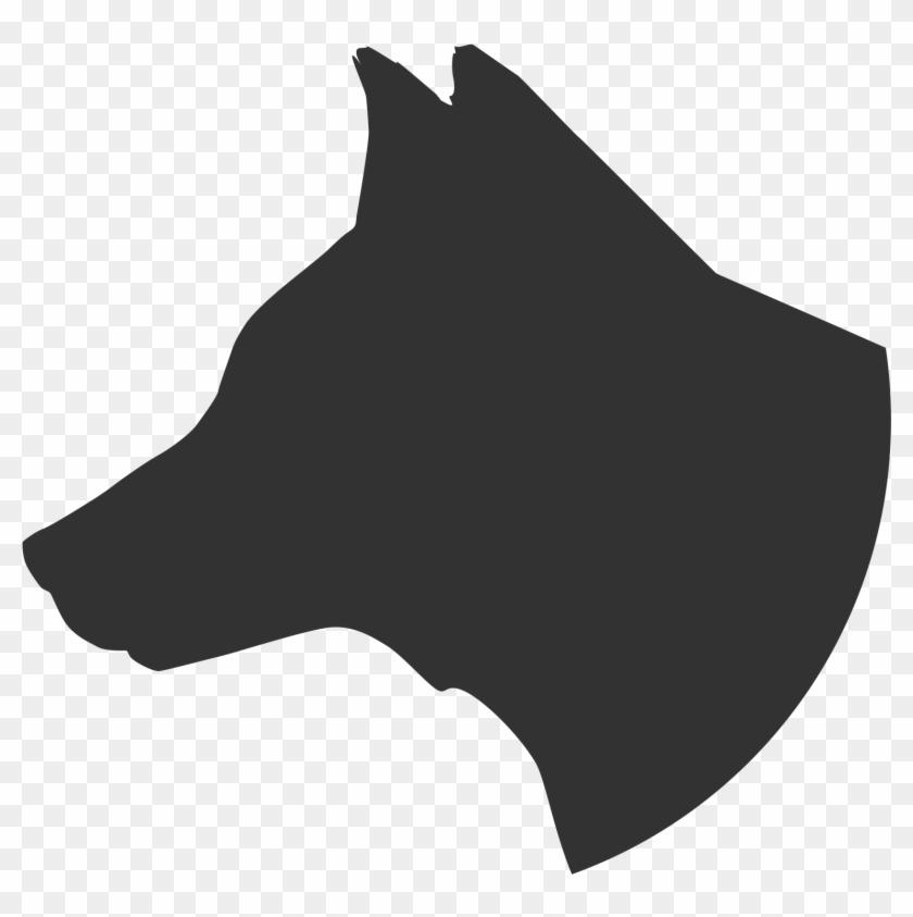 german shepherd profile clipart dog head silhouette side free