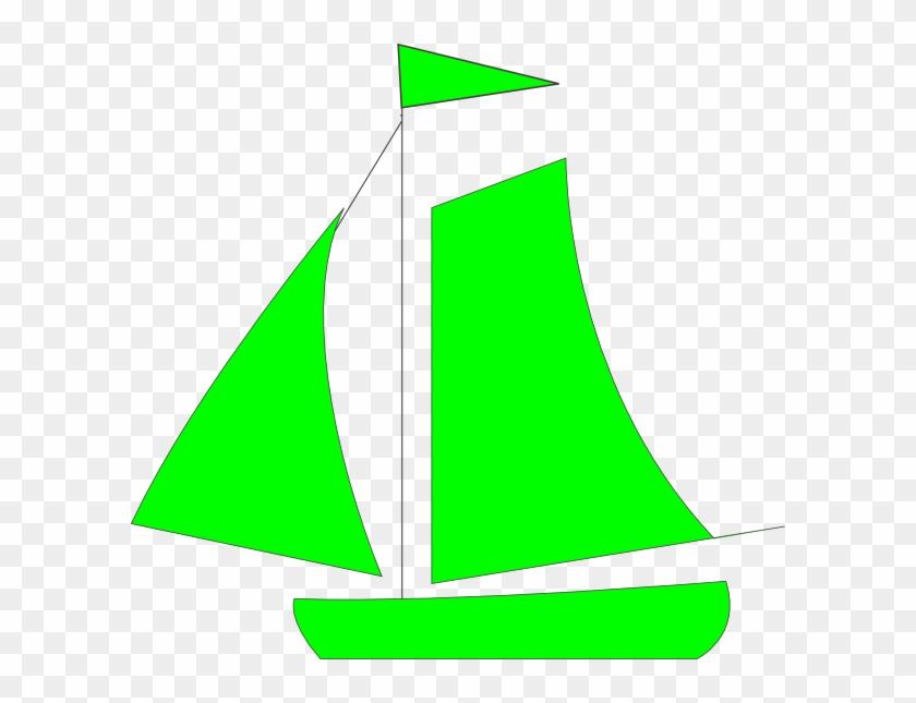 Sailing Boat Clipart Green - Red Sailboat Clipart #26723