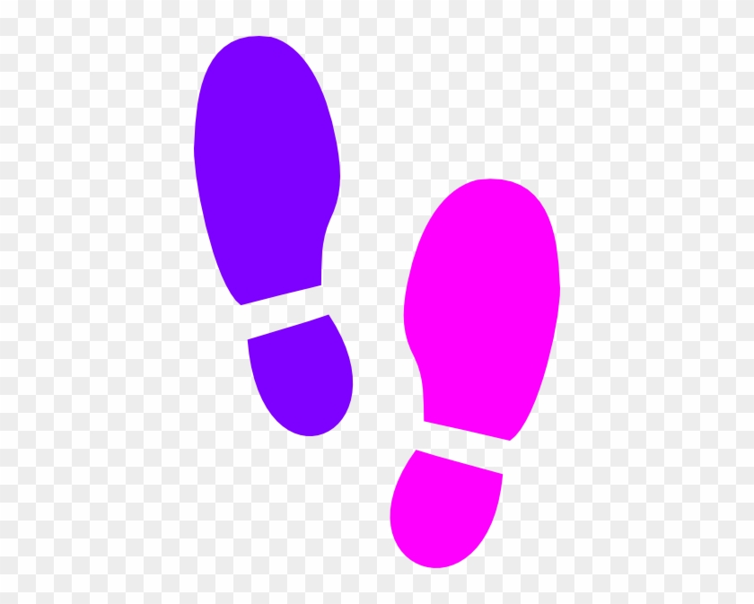 Colored Footprints Cliparts - Coloured Shoe Prints Clipart #26740
