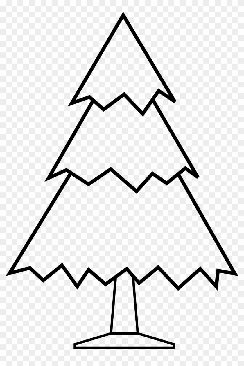 Christmas Tree Clip Art Black White - Clipart Black Nd White #26752