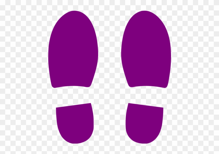 Footprint Clipart Purple - Blue Footprints Png #26785