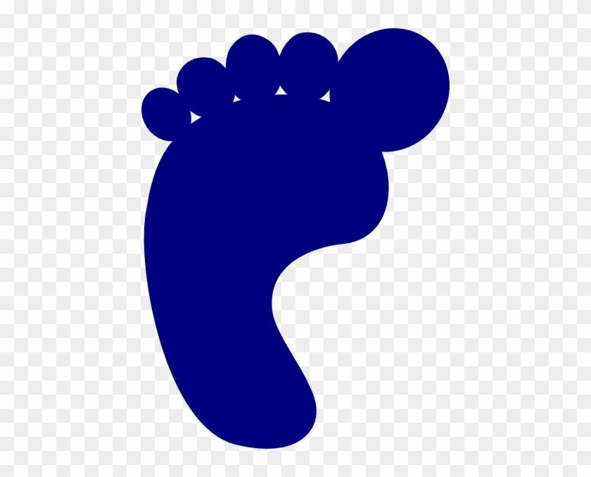 Dark Blue Footprint Clip Art - Dark Blue Baby Footprints #26787
