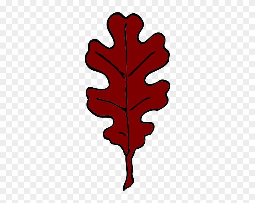 Oak - Leaf - Clipart - Red Oak Leaf Clip Art #26816