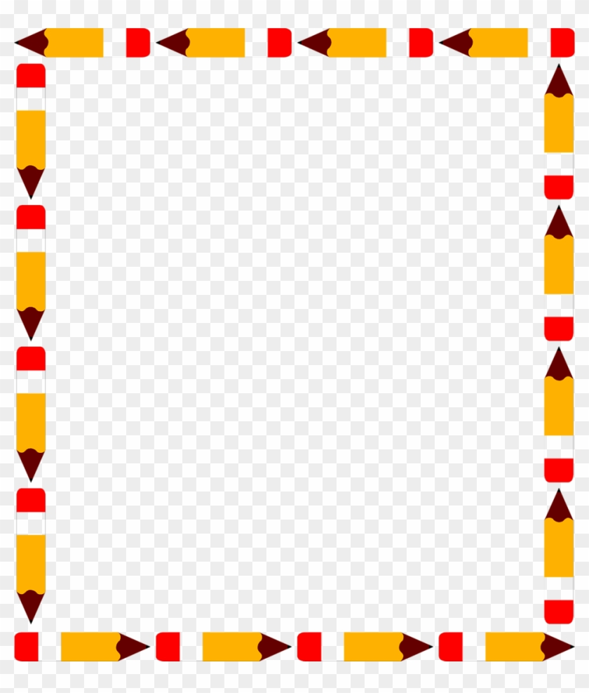 Pencil Border Pencils Free A Blank Pencil Frame - School Clip Art Borders #26845