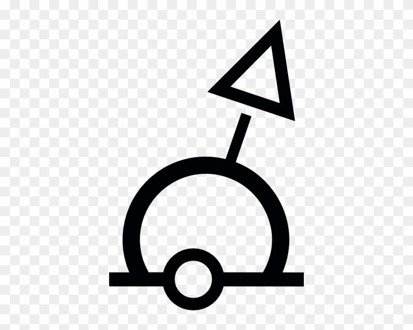 Free Vector Nautical Symbol International Sphere Buoy - Buoy Symbol #26854