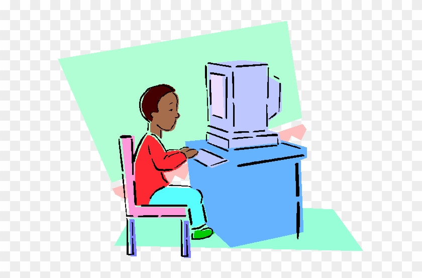 The Internet Opportunities And Ordeals For You Your - Child At A Computer Clip Art #26870