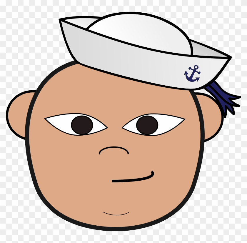 Sailor Clip-art Head Nautical Navy Clip Art - Sailor Face Clip Art #26871