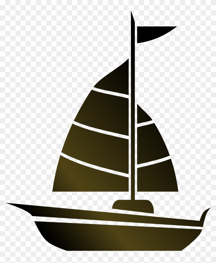Larger Clipart Sail Boat - Simple Sailboat #26877