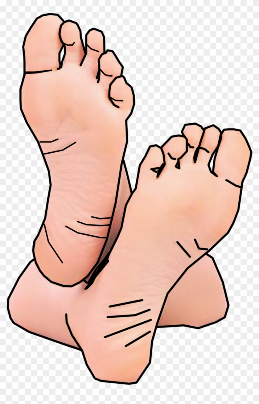 Bottom Of Foot Clipart Heels Pencil And In Color - Bare Feet Clip Art #26947