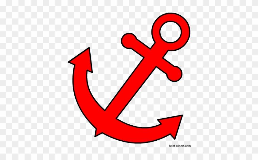 Free Red Anchor Png Cip Art Image - 黑 猫 警 长 #26970
